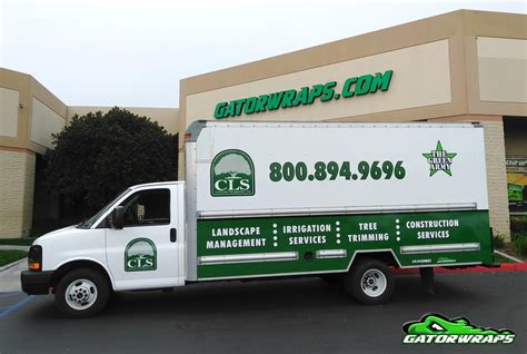 Graphic Design Home Based Business cls landscape full wrap box truck gator wraps