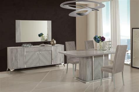 domus italian modern grey dining table set
