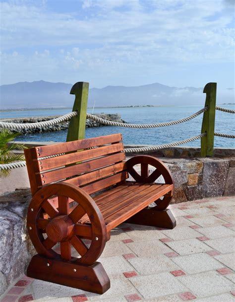 wagon wheel bench redwood wagon wheel bench custom redwood seating