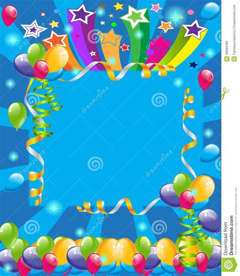 birthday invitation background templates invitation stock illustration image 43584492