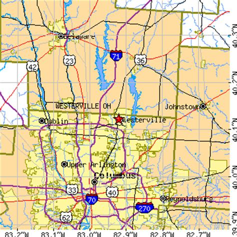 map of westerville ohio and surrounding area pictures to