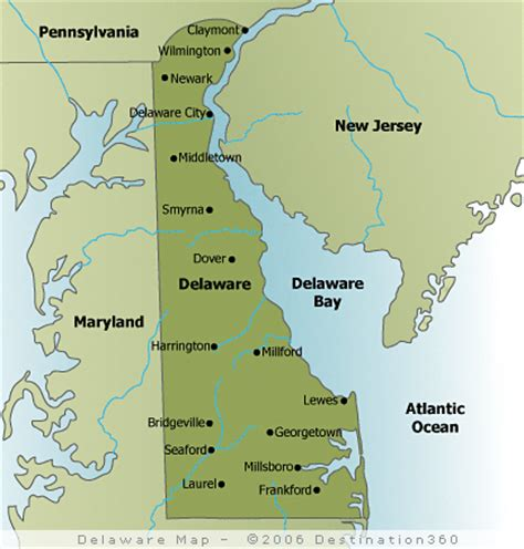 map of delaware cities delaware state map map of delaware