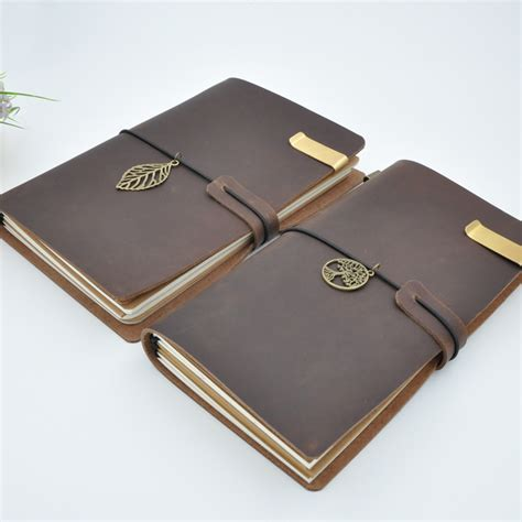 Handmade Diaries - vintage leather traveler s notebook diary handmade