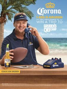 Corona Sweepstakes 2017 - game on lime in jon gruden resumes role of coach with corona 174 nyse stz