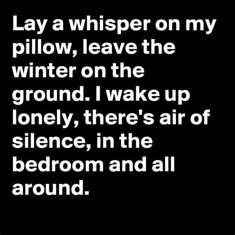 Play A Whisper On Pillow Lyrics Songlyrics S Posts Boldomatic