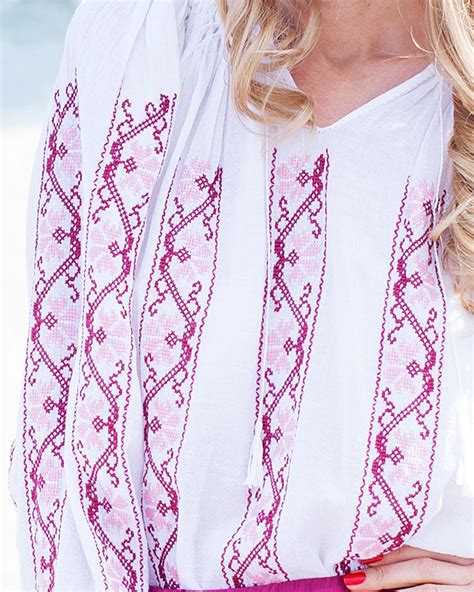 Handmade Blouse - traditional handmade blouse picotee motif