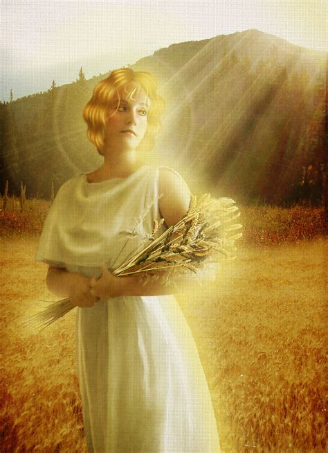 harvest of demeter goddess symbol demeter ceres greek goddess of harvest fertility and