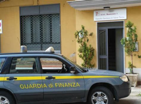 uffici asl telese guardia di finanza negli uffici asl acquisiti
