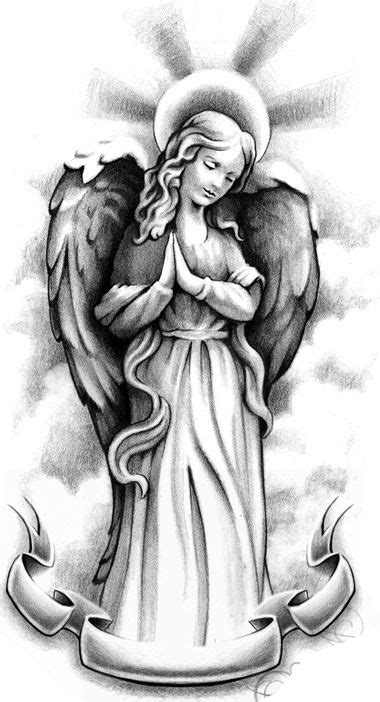 collection of 25 praying cherub tattoo design