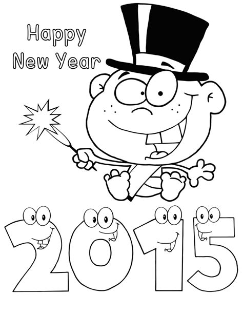 coloring pages for new years 2015 happy new year 2015 baby colouring pages coloring point