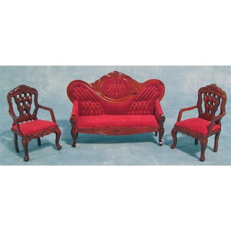 dolls house sofa and chairs red dolls house sofa chairs df108