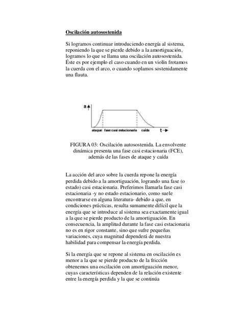 oscilacion autosostenida superposici 243 n de ondas y varios temas mas de acustica