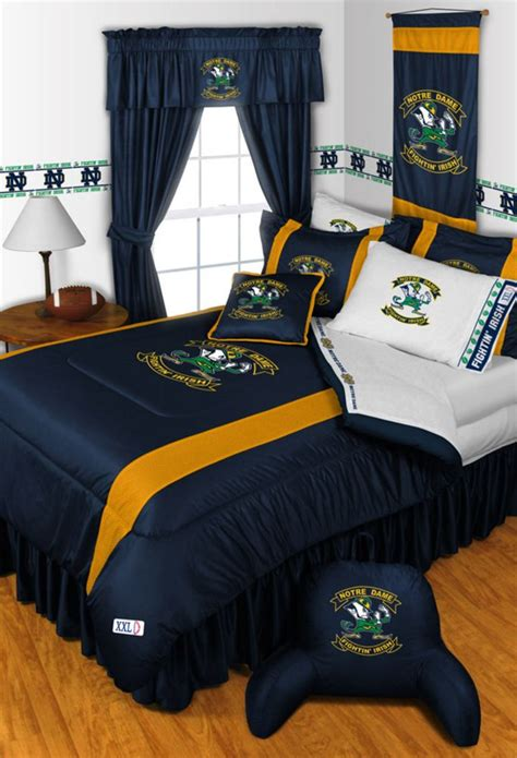 notre dame bedding notre dame fighting irish college sidelines collection by
