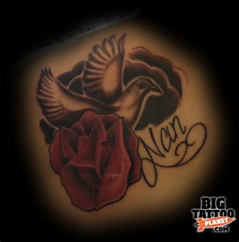 rose and dove tattoo designs craig wilson realism big planet