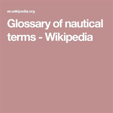 boat glossary of terms 25 best ideas about nautical terms on pinterest sailing