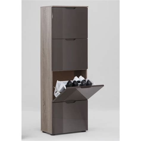Brown Shoe Cabinet by Gloss Brown Shoe Cabinet With 4 Drawer Shoe