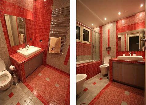 piastrelle bagno rosse salotto rosso empoli idee per il design della casa