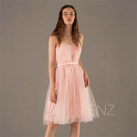 Dress Softpeach 1184s 2017 soft tulle bridesmaid dress backless a line