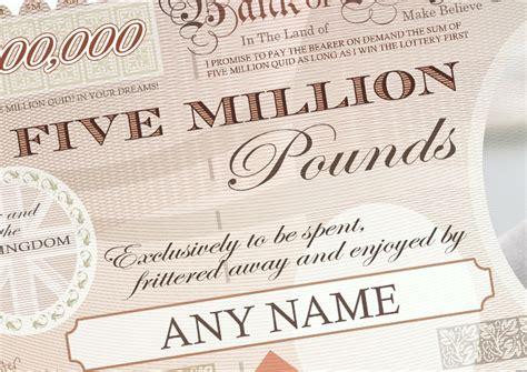 Alised  Million Pound Note Print Alised