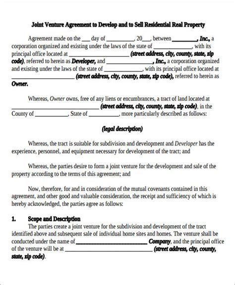 sample joint venture agreement  sample