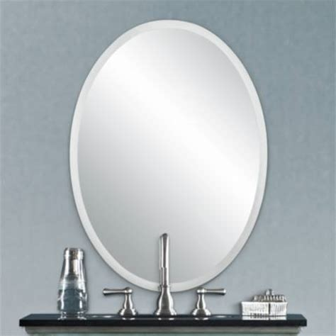 Ls Plus Wall Mirrors by Oval Regency 30 Quot High Beveled Wall Mirror P1383 Ls