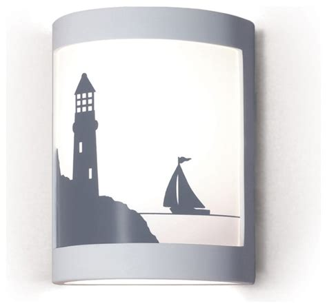 Beach Wall Sconces Bay Harbor Lighthouse Boat Silhouette Wall Sconce Beach