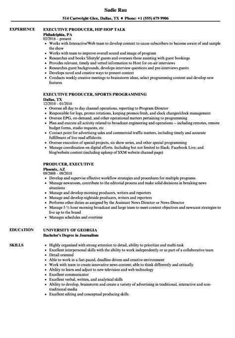 Sle Resume Executive Producer executive producer sle resume peoplesoft business analyst sle resume instrumentation