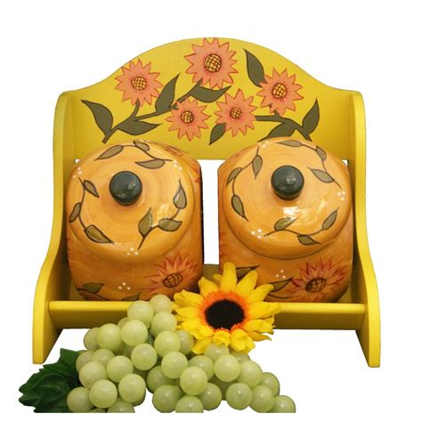 sunflower kitchen canisters canisters extraordinary sunflower kitchen canisters