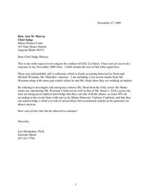 chief judge letter 1 sixth request