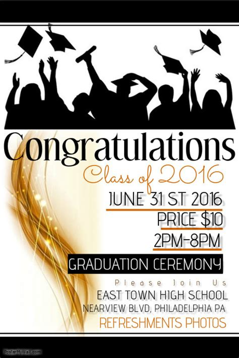 design graduation poster graduation template postermywall