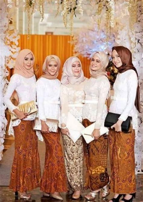 Baju Muslim Untuk Pesta Nikahan trend baju muslim kebaya modern kombinasi batik untuk