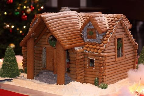 log cabin gingerbread house designs log cabin via flickr gingerbread houses pinterest