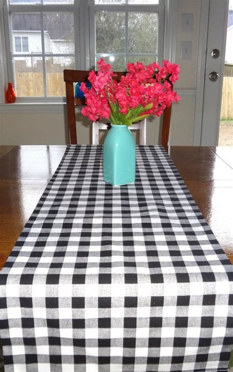 black and white checkered table runner items similar to black white checkered table runner