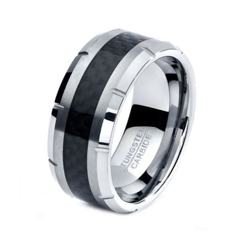 black tungsten ring black men tungsten rings black