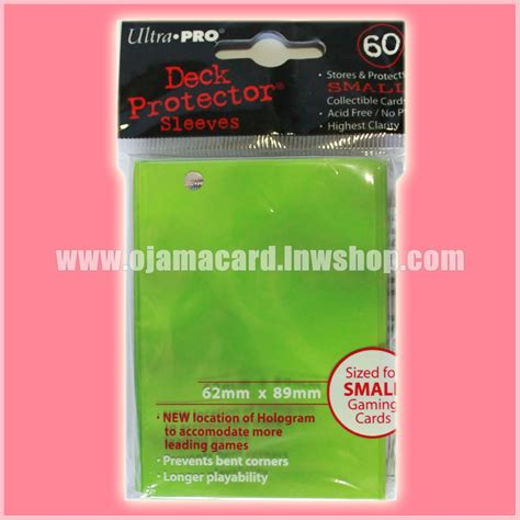 Ultra Pro Deck Protector Small Solid Green ultra pro small deck protector sleeve lime green x60