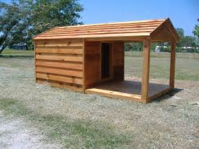 Cedar dog house with porch custom ac heated insulated dog house