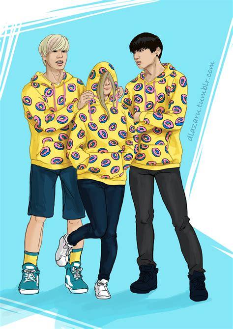 future banana all donut hoodie fanart by dlazaru on