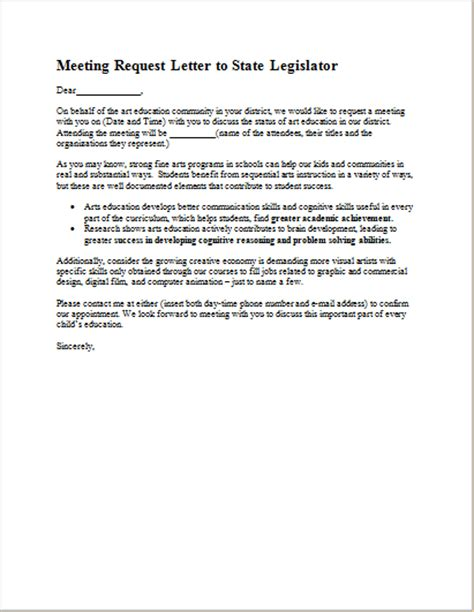 Inquiry Letter For Meeting Meeting Request Letter Template For Ms Word Document Hub