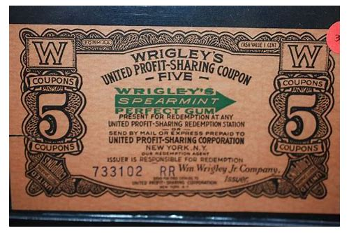 wrigley's united profit sharing coupons