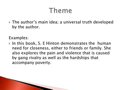 universal themes in the outsiders the formal five paragraph essay ppt video online download