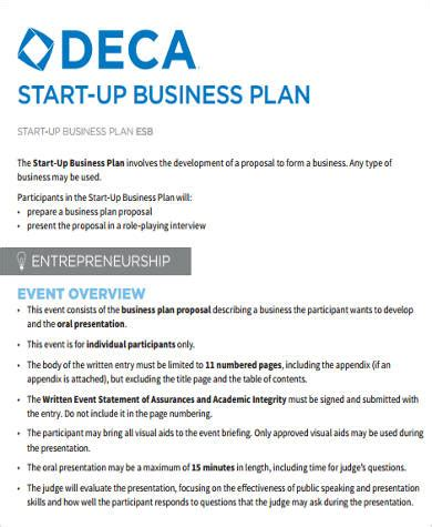 startup business plan template financial projections