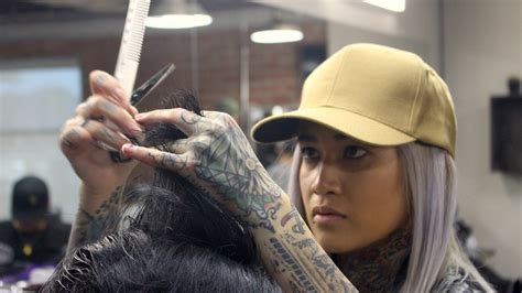 www barberher cutting through the patriarchy with one of la s few female