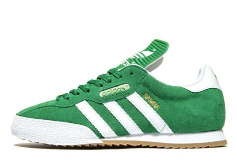 lyst adidas originals samba in green for