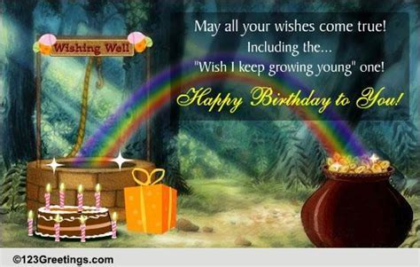 Birthday Wishing Well! Free Birthday Wishes eCards