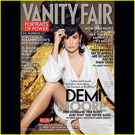 Demi Vanity Fair 1991 by Demi Channels Dita Demi Just Jared