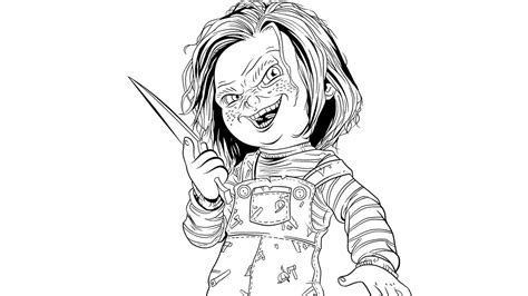 chucky coloring pages