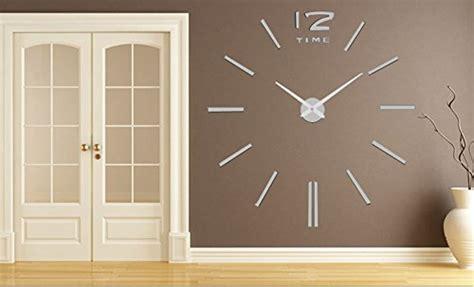 decorazione muri interni fai da te lifeup orologio da parete grandi argento adesivi murali