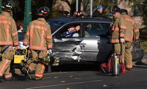 two car crash one injured in auburn two car crash local news