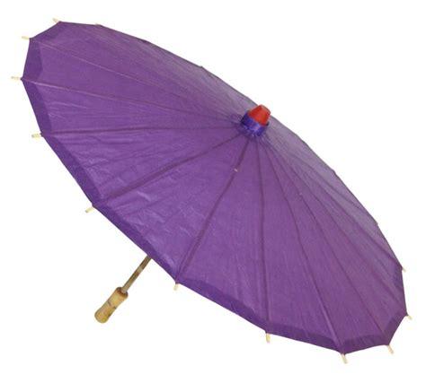 Paper Umbrella - 34inch paper parasol umbrella orchid purple