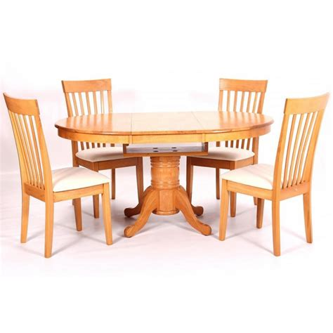 Rubberwood Dining Table Leicester Extending Solid Rubberwood Dining Table With 4 Chairs Cheap Home Furniture